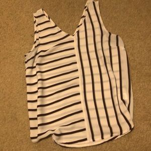 Maurices Sleeveless Striped Blouse